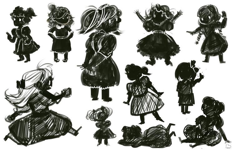 Gloria silhouettes. silhouettes - sheeprilyn | ello