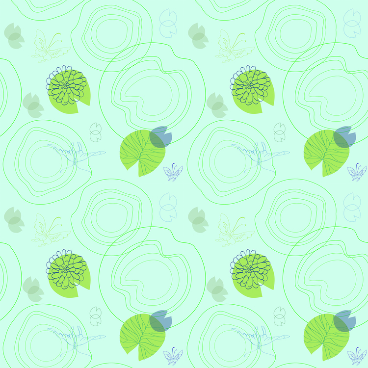 waterlily - pattern, patterndesign - cibelle-7505 | ello