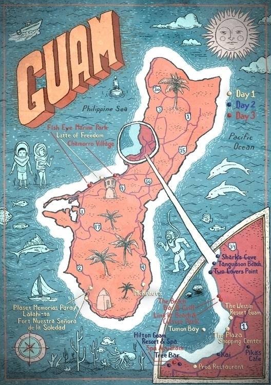 Guam Map Hemispheres Magazine - maps - barrybruner | ello
