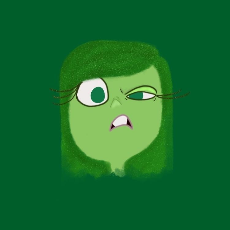 Disgust - illustration, insideout - af4rin | ello