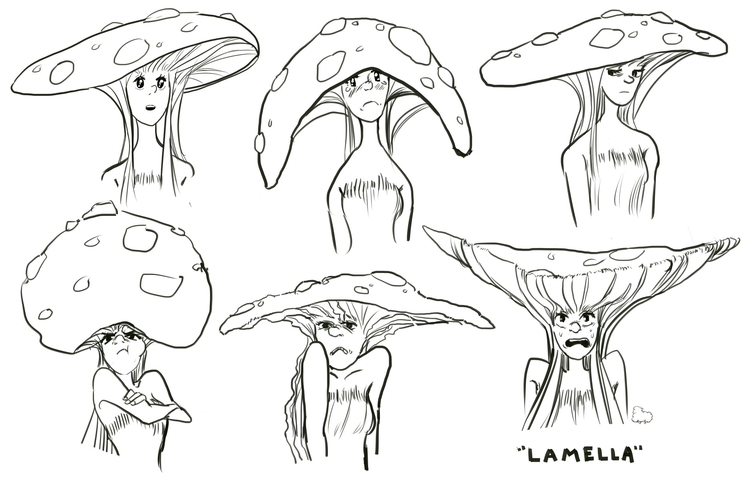 expression sheet - mushroom, girl - sheeprilyn | ello