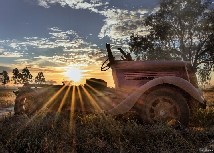 sunrise, sunset, vintage, car - egosbar | ello