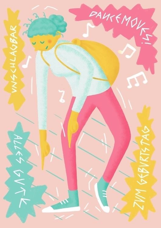 dänzen - illustration, birthday - konndeplus | ello