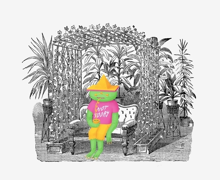 illustration, garden, victorian - konndeplus | ello