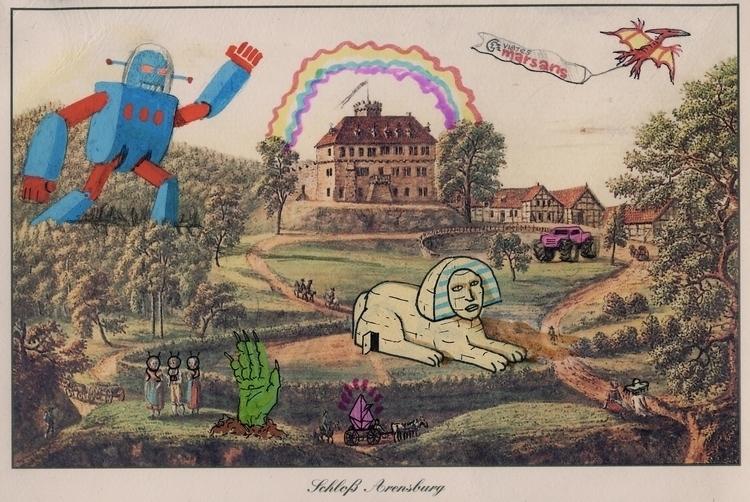 illustration, schloss, arensberg - konndeplus | ello