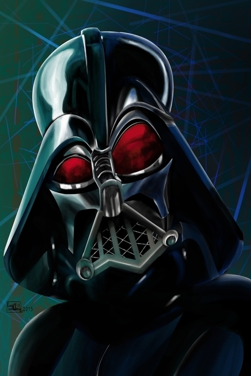 Caricature - Darth Vader - starwars - leenaswamy | ello