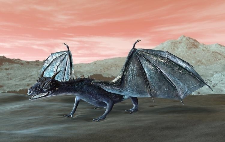 Blue Dragon - animation, 3d, 3dart - rachelj-1394 | ello