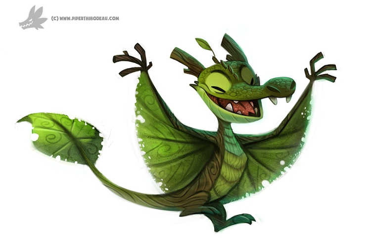 Daily Painting Arboreal Dragon - piperthibodeau | ello