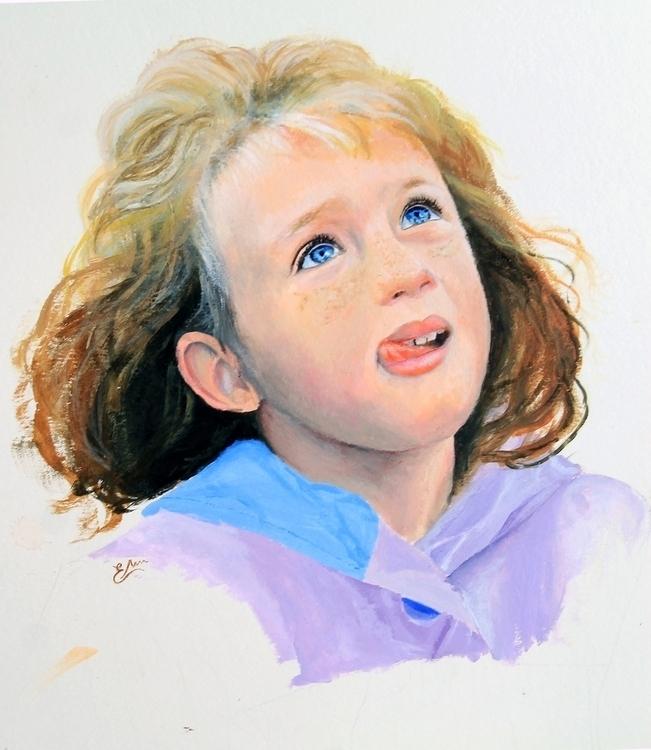 Acrylic portrait painting - illustration - elisamartino | ello
