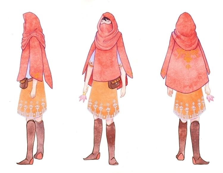 Red Riding Hood - Kelly Airo - illustration - kairo-1139   ello