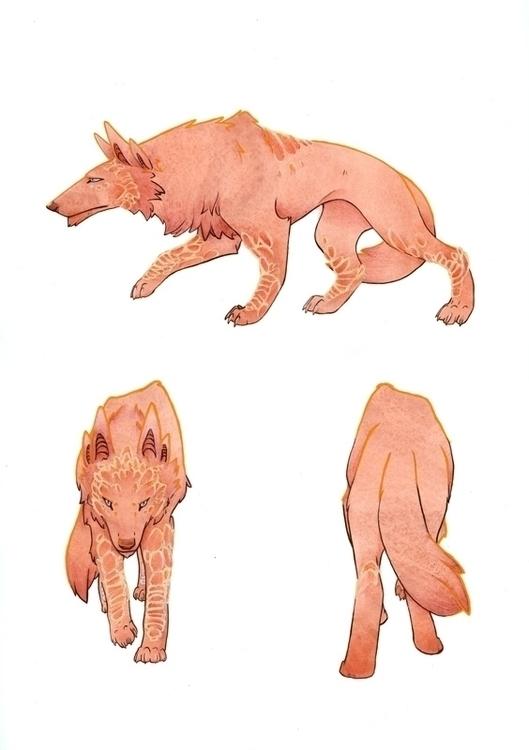 Wolf - Kelly Airo - illustration - kairo-1139 | ello