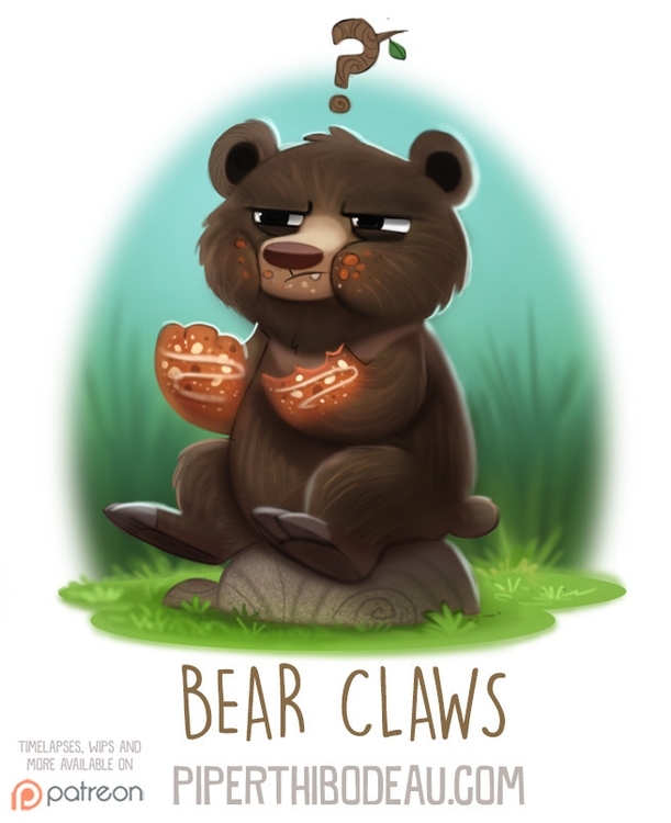 Daily Paint 1588. Bear Claws - piperthibodeau | ello