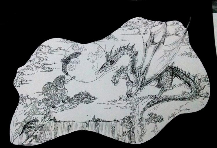 Princess Dragon - Nankin 2013 - illustration - vanniegama | ello