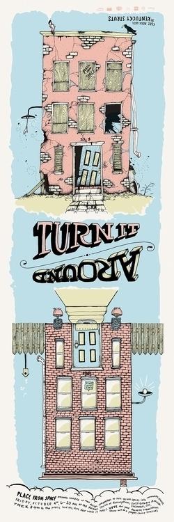 Turn - illustration, drawing, typography - doogger07 | ello