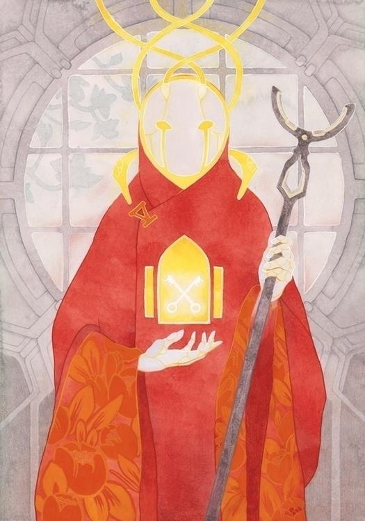 Hierophant - Kelly Airo - illustration - kairo-1139 | ello