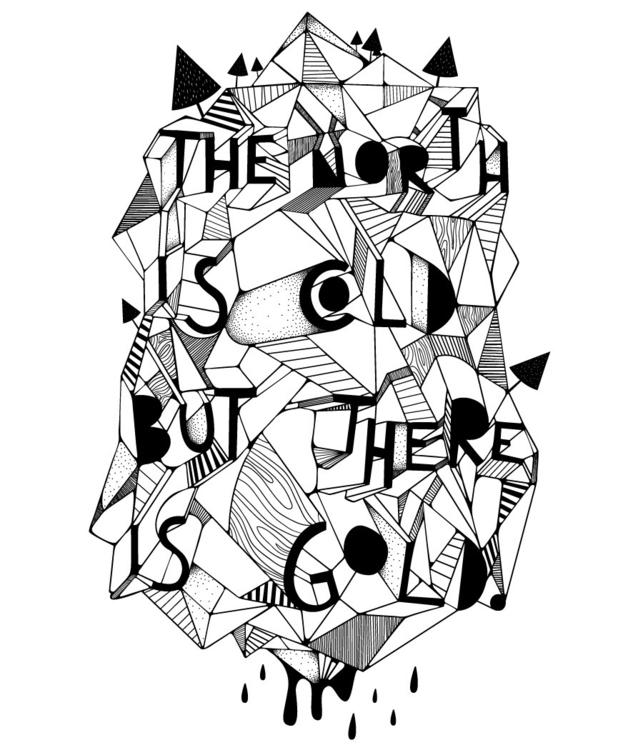 North Cold Gold - illustration, typography - doogger07 | ello
