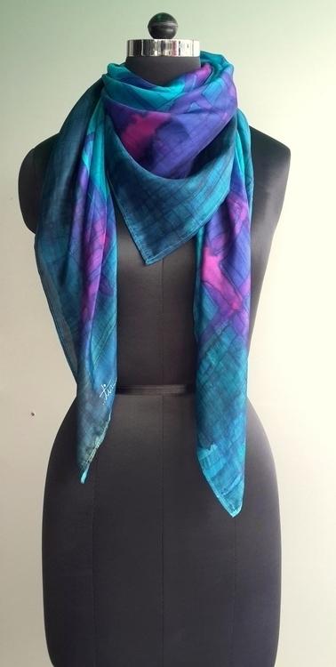 Hand painted silk scarf Dyes 90 - ishitabhattacharya | ello
