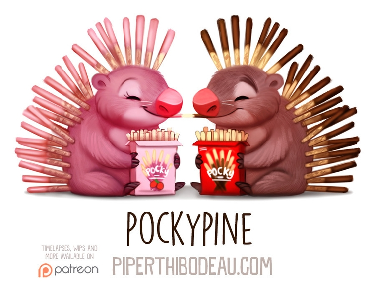 Daily Paint 1591. Pockypine - piperthibodeau | ello