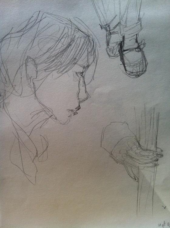 Subway sketch - sketchbook, lifedrawing - clarisse-1174 | ello