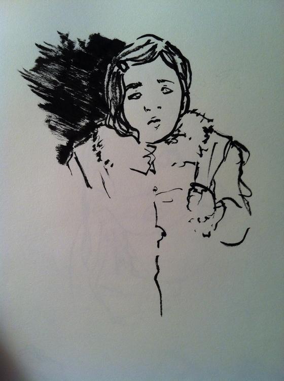Subway sketch - sketches, sketchbook - clarisse-1174 | ello