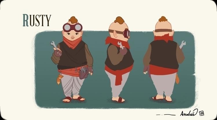 Rusty concept design - illustration - kalegiro | ello