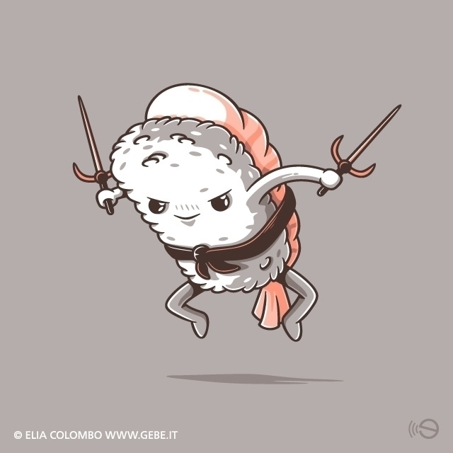 eat - samurai, illustration, characterdesign - gebe-4724 | ello