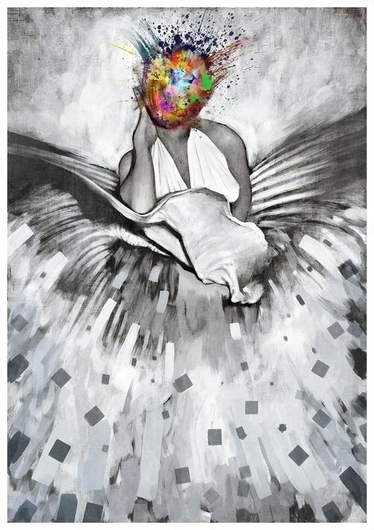 Madonna - illustration, painting - mikaelhill | ello
