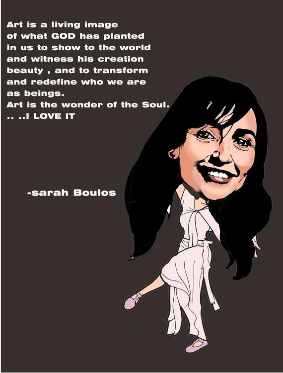 sarah boulos - portraitillustration - sunnyefemena | ello