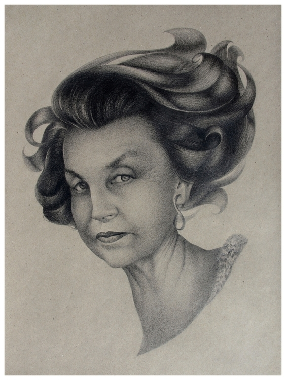 Liliane Bettencourt - 10, drawing - misca-5032 | ello