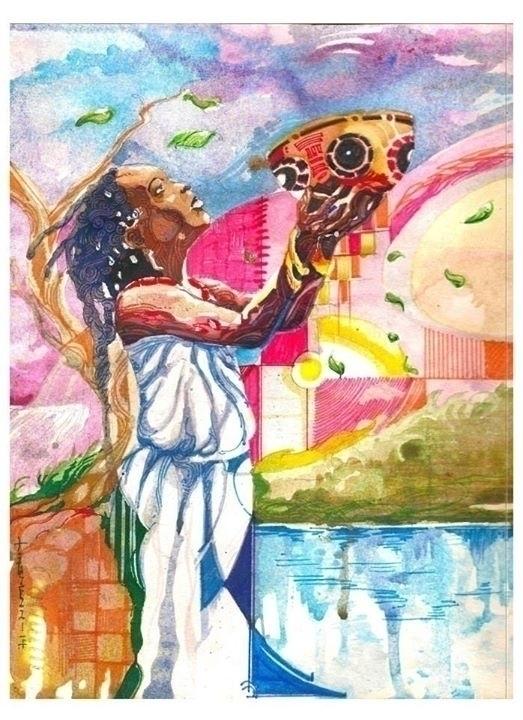 expectations - painting, watercolor - sunnyefemena | ello