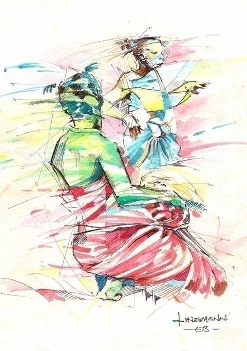 dance - watercolor, surrealism, movement - sunnyefemena | ello