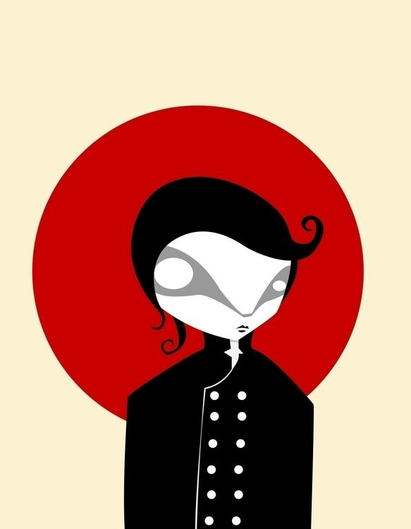 redmoon, illustration - volkandalyan | ello