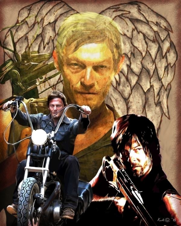 walkingdead, thewalkingdead, daryldixon - kurtg_art | ello