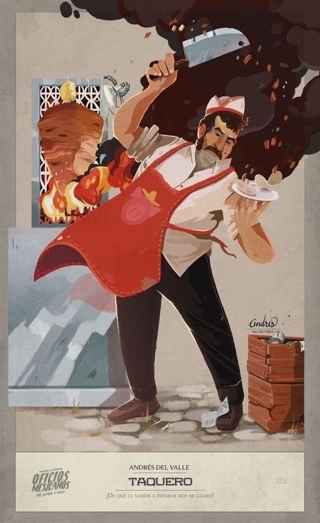 Tacos - illustration, characterdesign - kalegiro | ello