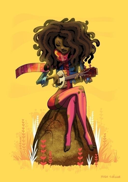 Valerie June - illustration, valeriejune - hugocuellar   ello