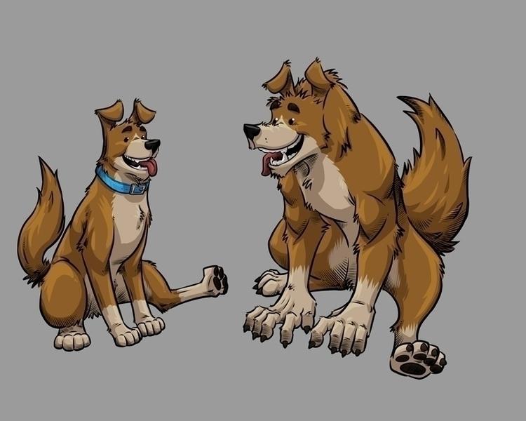 Weredog - werebeast, weredog, dog - artmutt | ello