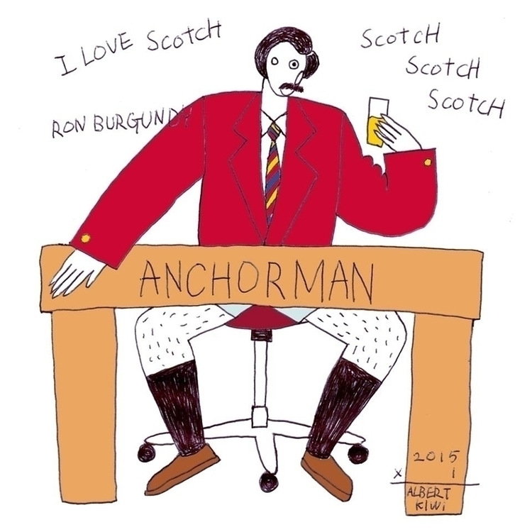 ANCHORMAN - illustration, art, artist - albertkiwi | ello