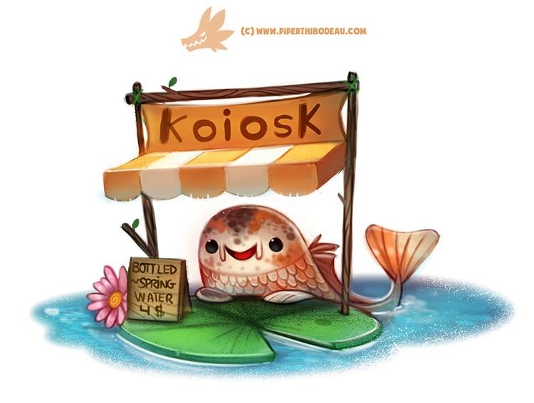 Daily Paint 1301. Koiosk - piperthibodeau | ello