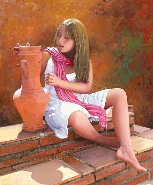 Elena 100x81 cm. oil canvas - painting - josehiguera | ello