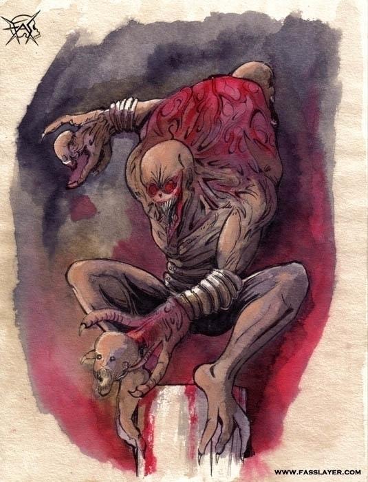 monster - illustration, painting - fasslayer | ello