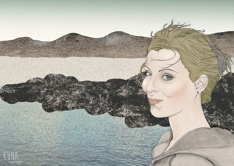 portrait, landscape, illustration - kunarysuje | ello
