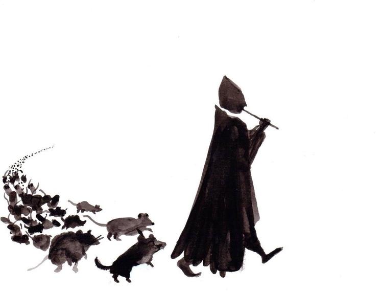 Hammelin - illustration, tales, ink - patriciadecos   ello