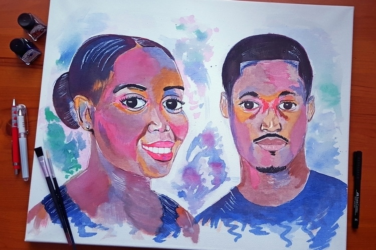 Couples Portrait - art, painting - emetzger | ello