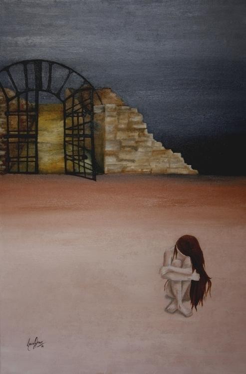 Exclusion - Oil canvas 40 60 cm - lauragreco   ello