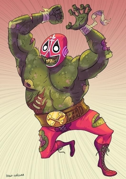 El Zombie - wrestler, zombie, mexicanwrestler - hugocuellar | ello