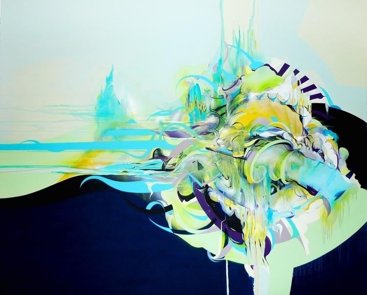 195x155 cm, tsunamii, 2010 - painting - jakubreken | ello