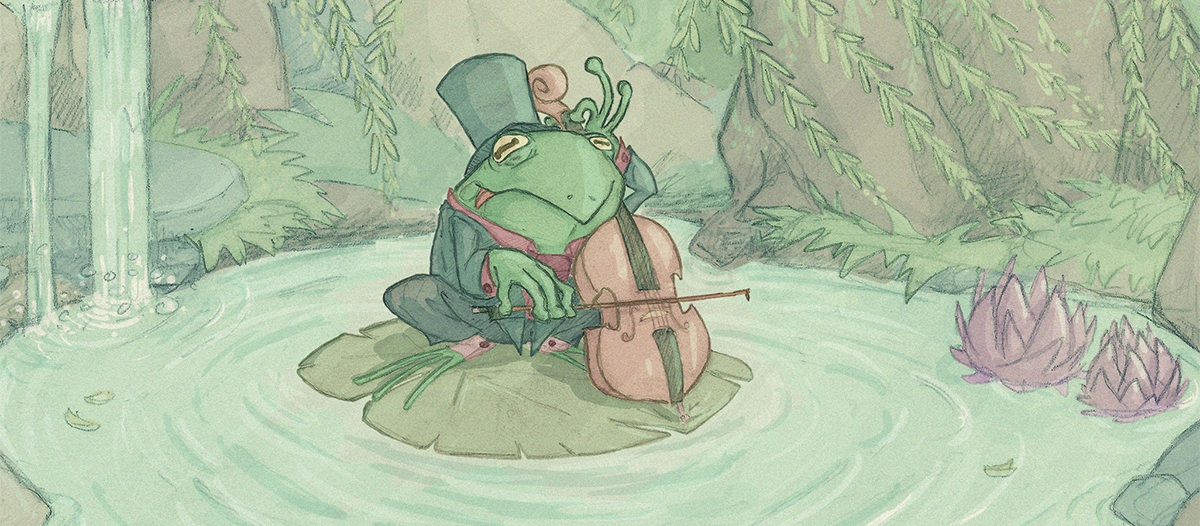 cello, frog, pond - camotron | ello