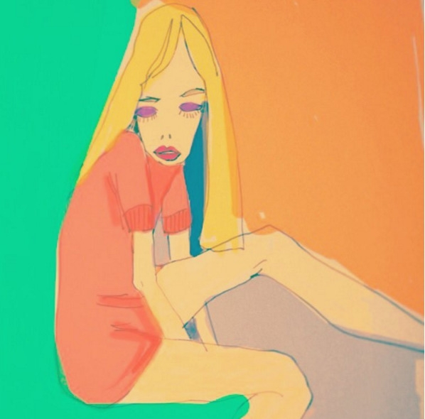 Girl - illustration, drawing, fashion - eye_catches | ello
