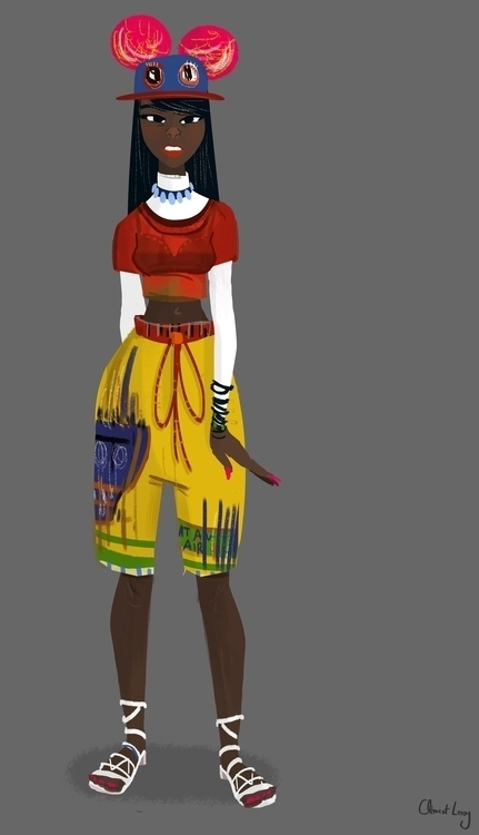 - Jean-Michel Basquiat girl - GirlsWearingArt - cleleroy | ello