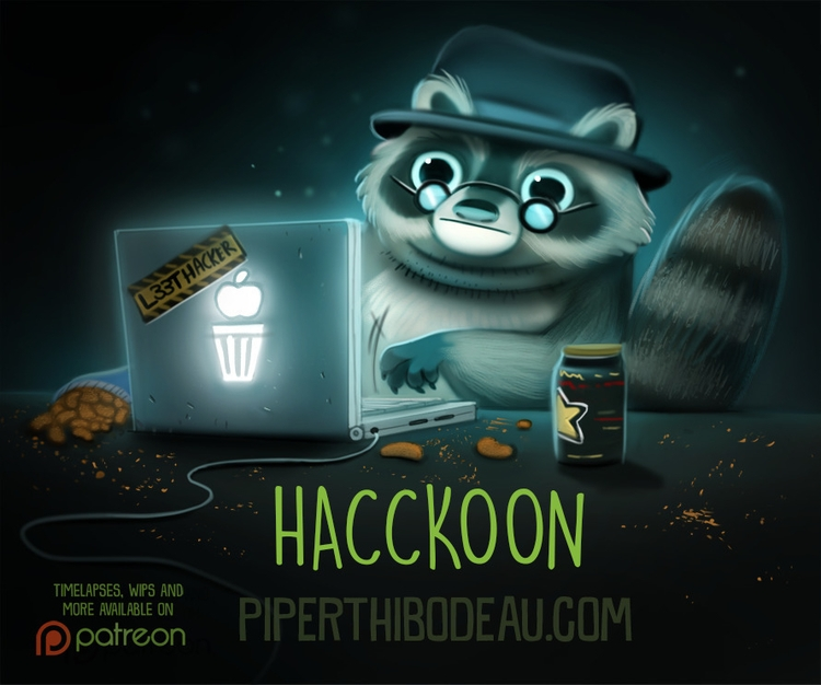 Daily Paint 1604. Hacckoon - piperthibodeau | ello